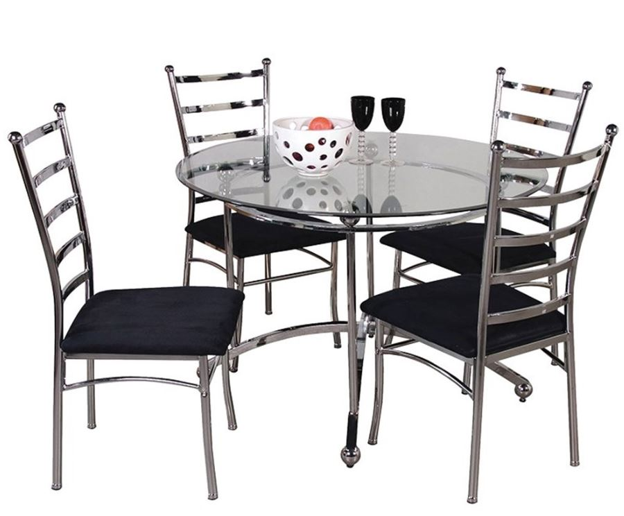 Bistro Set Including Glass Table 4 Chairs Burnley Carpets